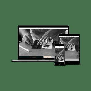Mockup création de site Notice Studio
