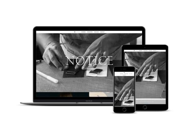 Création de site internet Notice Studio