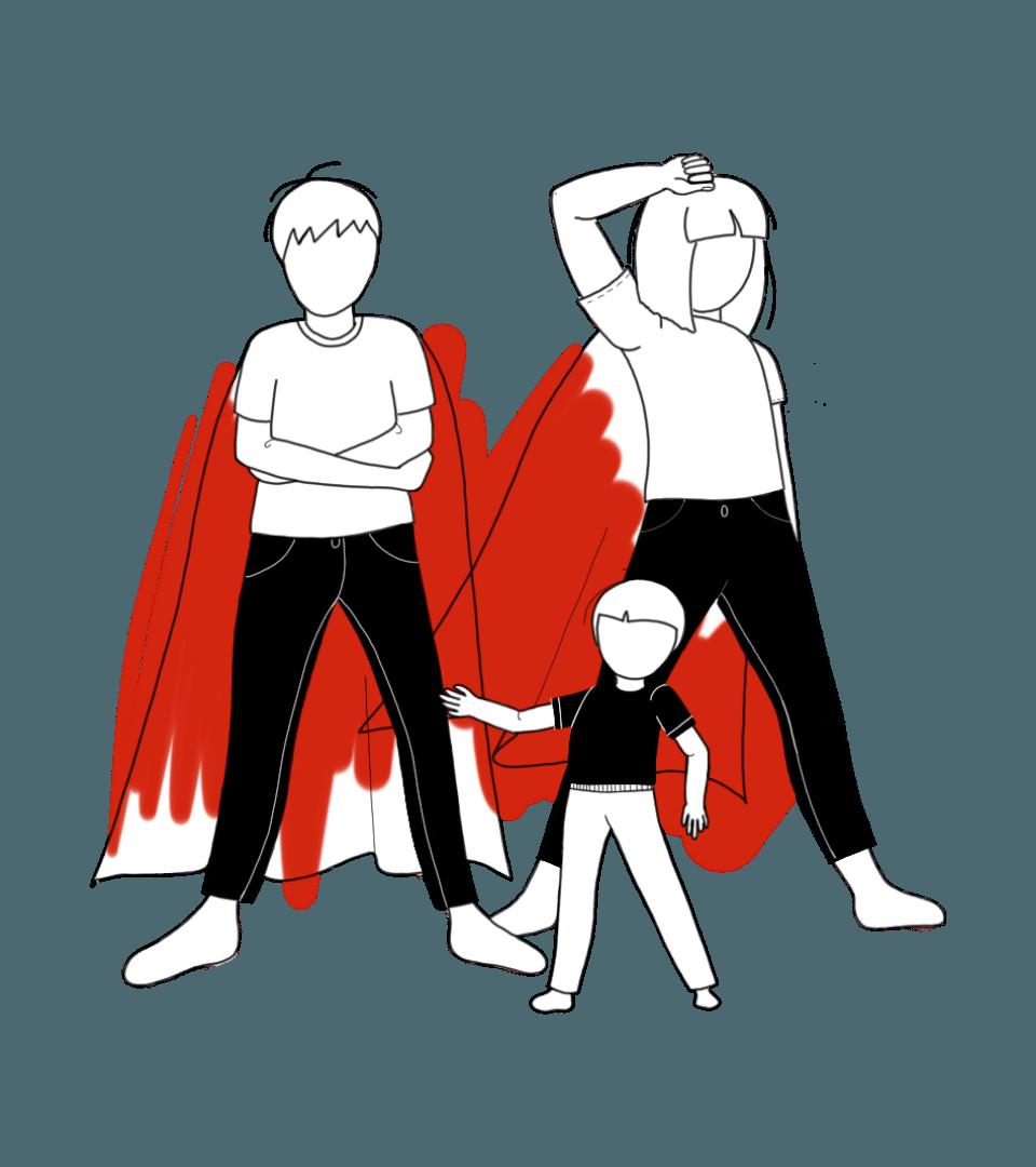 Illustration de l'association hero family