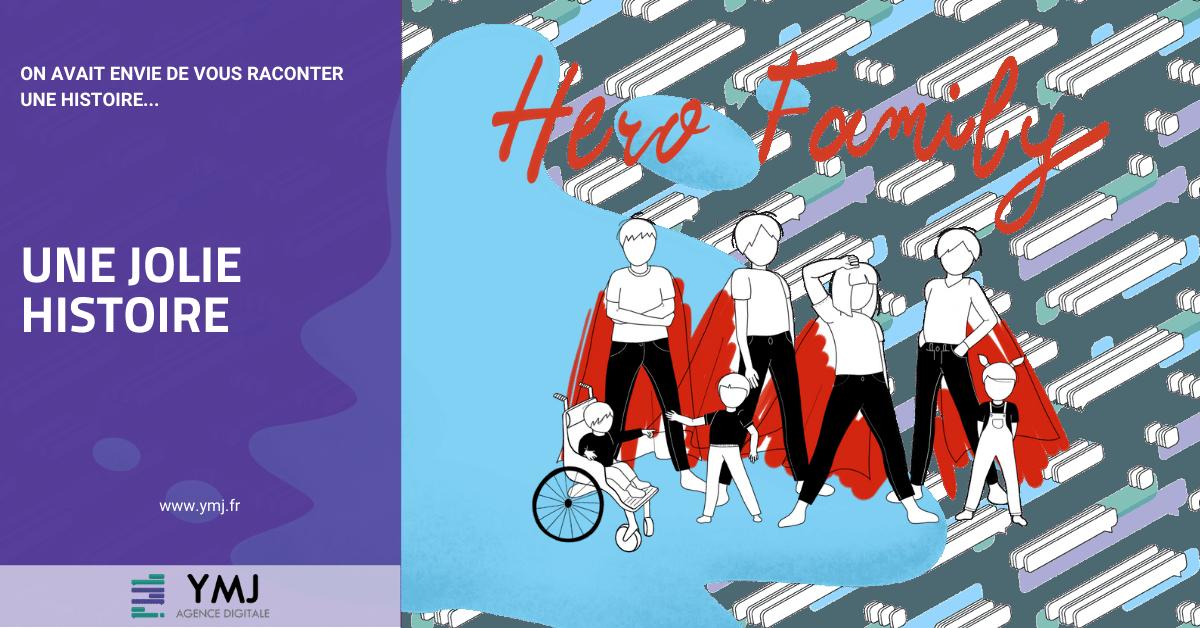 Une jolie histoire - Création du site Hero Family