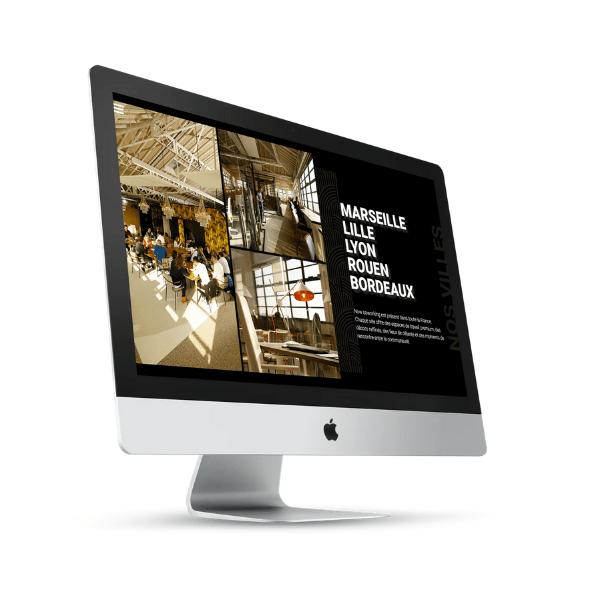 visuel creation du site now coworking
